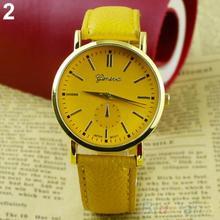Men s Women s Geneva Roman Numerals Faux Leather Band Analog Quartz Wrist Watch 1T7J