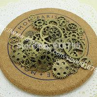 Wholesale Mix 100 pcs Vintage Charms Gear Pendant Antique Bronze Fit Bracelets Necklace DIY Metal Jewelry Making CLQ002
