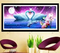 wedding gift swan Diy diamond painting square diamond  drill diamond embroidery painting free shipping