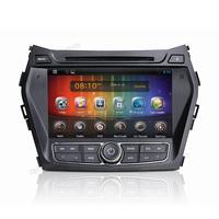 car radio mp3 adapter with gps car instuallation for Hyundai IX45/Santa Fe 2013 (S8056) with headrest dvd screen