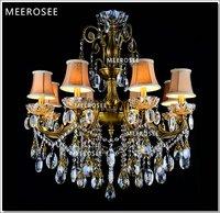 Bronze Finish Antique Luxurious Crystal Chandelier Lamp / Light / Lighting Fixture 8 lights