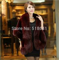 2014 Autumn and Winter warm New Silver Fox fur shawl cloak sleeveless cloak mink fur rabbit hair fur overcoat NWT059