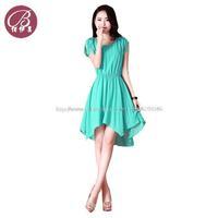 BAIYIMEI brand wholesale New 2014 summer Women irregular chiffon dress Korean vestidos Slim Maxi dresses long Free shipping