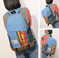 Hi Road St. thick canvas school backpack men women casual street hiphop cowboy sports rucksack  shoulder schoolbag