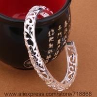 B194 925 sterling silver bangle bracelet, 925 silver fashion jewelry Bangle /aqdajhka aycajpja