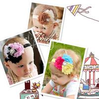 2013 newest pearl ribbon three children spend yarn hair bands a generation of fat children FS-010