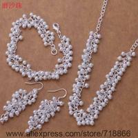 AS393 925 sterling silver Jewelry Sets bracelet necklace earring /axdajoka bivakaca