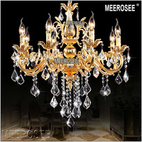 Gold Color Crystal Chandelier Candle Light Classic Chandelier Lamp Free Shipping Ready Stock