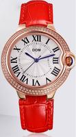 Dom brand women dress watches ladies fashion leather quartz watch clock women wristwatches woman casual watch relogio feminino
