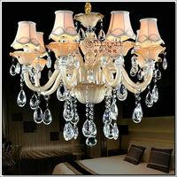 Free Shipping European Flower Design Crystal Chandelier Lighting Luster Lamp Meeting Room, Lobby
