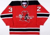 2007 Olli Malmivaara Jersey LOWELL DEVILS Jerseys #32 ICE Hockey Jerseys Red XXS-6XL