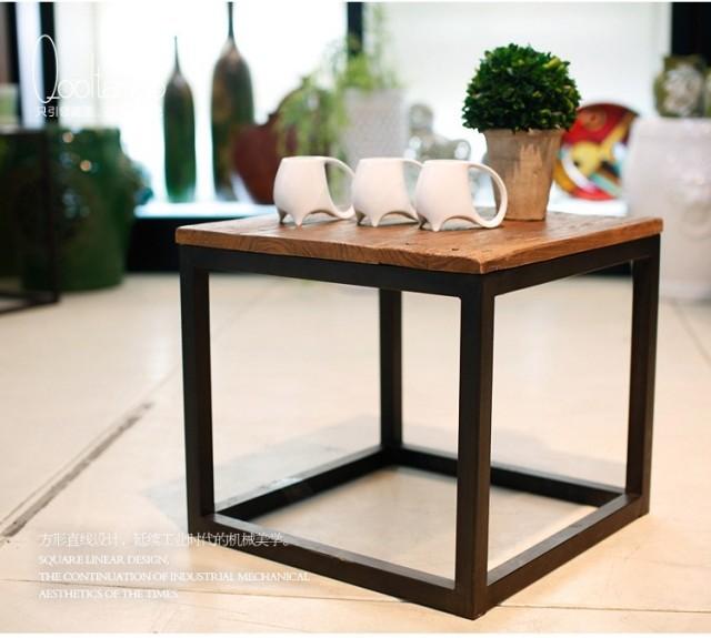 fare il vecchio ferro battuto tavolino legno tavolino divano tavolino ...