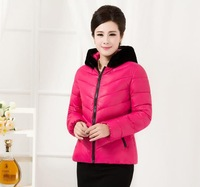 2014 new winter jacket in older women , women thick warm down jacket high quality, women overcoats padded with free shipping