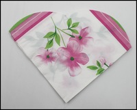 Food-grade Love Shape Pink Floral Printed Paper Napkin Event & Party Tissue Napkin Guardanapo 33cm*33cm 1pack/lot