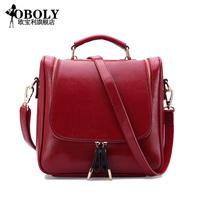 Backpack Jurchen Korean current 2014 School of old leather women bag single shoulder shoulder dual-use bag
