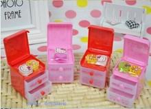 Super Kawaii Mini Hello Kitty 5*5CM Plastic Desk Eraser Stationery Storage Can BIN ; Girl's Home Little Storage BOX Jewelry BOX