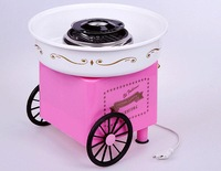 Free Shipping  cotton candy machine cart, household mini cotton candy maker cotton candy machine 220v voltage  1pcs