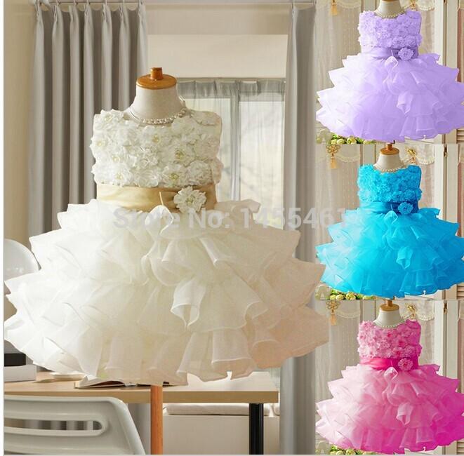 Hot Sale! Free Shipping! 2014 Toddler 3D children Koopo girls rose princess dress sleeveless dress tutu(China (Mainland))