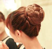 Hair bun Chignon Hair bun pieces Clip on bun Girl Female Brown Black Fashion dtjf105