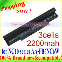 3cells  Laptop battery replacement for  for NC10 series AA-PB6NC6W  AA-PB8NC6M 1588-3366 battery  ND10 series NC20 series