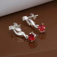 Hot Sale!!Free Shipping 925 Silver Earring,Fashion Sterling Silver Jewelry Austria Crystal Earrings SMTE473