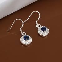Hot Sale!!Free Shipping 925 Silver Earring,Fashion Sterling Silver Jewelry Austria Crystal Earrings SMTE477