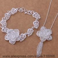 AS373 925 sterling silver Jewelry Sets Bracelet 284 + Necklace 699 /awjajnqa bibajzia
