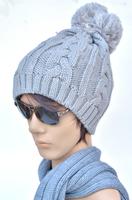 2014 New Fashion Winter Warm  Wool Beanies for women Hairball Hats for girls  boys Crochet Warm  Beanie Skullies caps