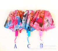 Frozen princess cartoon umbrella 1m diameter adult children all can use -pink/blue