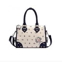 2014 new single shoulder bag handbag female fashion Navy style handbag leisure multipurpose handbag