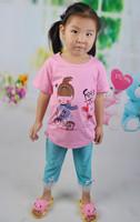 14 new children's summer cotton T-shirt girl 's clothes Children Tshirt bike behalf AliExpress