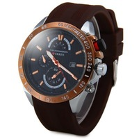 Free shipping Curren 8148 Male Quartz Watch Day Display Rubber Strap Round Dial