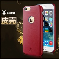 BASEUS Brand Elegant Series Ultra-Slim PU Case For iphone 6 4.7 Back Cover, With retail box, 10pcs/lot Freeshipping