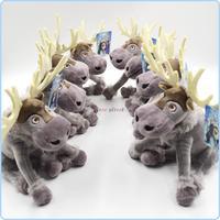 2014 NEW Cartoon Movie Frozen Reindeer Sven Kristoff friend Plush Toys Dolls for Children Kids gift WJ-BAB