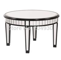 MR-4T0105L glass mirrored coffee table modern design