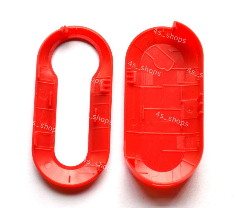 Красная полоса волна печать жесткий внешний чехол крышка в сочетании shell для fiat 500 эко-брава панда punto флип складные защитный
