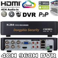 Free shipping 4CH 960H(960*576) DVR 4 Audio H.264 HDMI Plug play Remote View free setting Motion detector CCTV DVR