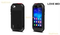 LOVE MEI Aluminum Powerful Waterproof Metal Case For Huawei honor 6 + Gorilla Glass MOQ:20pcs Free  DHL
