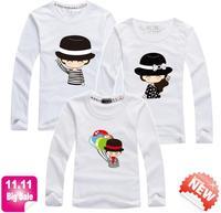 11.11 BIG SALE retail family t shirt t shirts baby dad mum family tee cartoon parentage lovers clothes brand PANYA QCX16