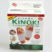 1 packs=10pcs Kinoki Detox Foot Pads Patches with Adhesive / No Retail Box Patches Adhesives)