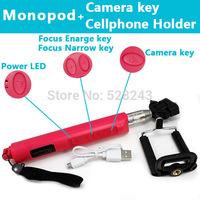 Gopro Accessories Extendable Handheld Aluminum Alloy Flexible Telescopic Monopod Tripod Holder for Go Pro HD Hero1 2 3 Carmera