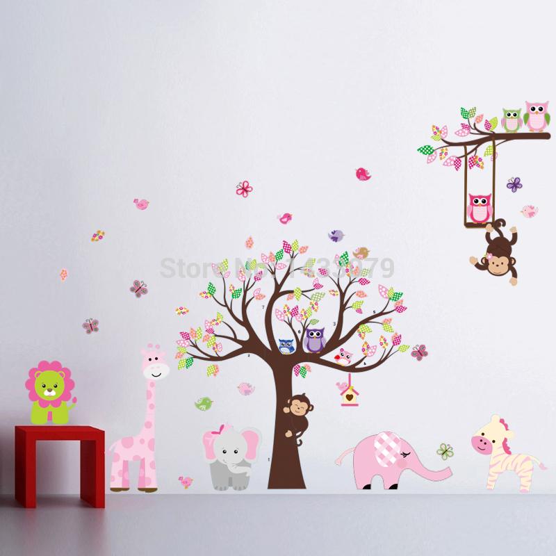 Free Transport 2015 ZY1217 New Monkey Tree Nursery Babiesu0027s Room Bed Room  Wall Stickers Wholesale Exchange Detachable Water Proof Part 77