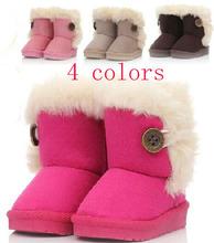 bebé algodón- acolchado zapatos niños niñas 2014 niño invierno nieve botas niños niños botas zapatos rosa marrón beige rosa(China (Mainland))