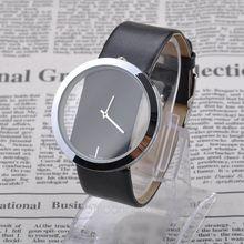 Women s Luxury Jewelry PU Leather Analog Clock Dial Quartz Wrist Watch Simple Quartz Women Wrist