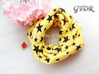 9 color Classic children's cotton scarf kids boy girl Ring Scarfs Shawl Unisex Winter knitting stars Collar Neck Warmer new 2014