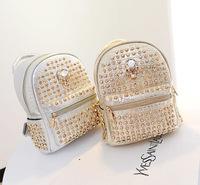 New handbag skull Rhinestone multi use backpack Europe and explosion models rivet diamond backpack factory direct