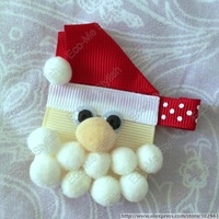 2014 New Free shipping 20pcs/lot Christmas hair bow,infant Snow man Hair clips, adorable hair accessories10102