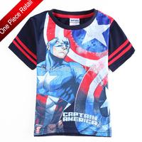 2014 Nova Kid Boys T-shirts Children Clothing The Avengers 100% Cotton Short  Boys T shirt Kids Tops Drop Shipping
