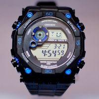 3pc 2014 New OHSEN Fasion Cool Men Blue Black Rubber LCD LED Digital BackLight Dive Digital Men Boy Sport Watch 2810-2 Wholesale