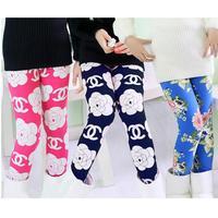 2014 winter fashion girl plus velvet leggings Korean version of the thick section letters Saika leggings pants